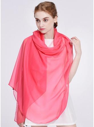 Solid Color Kevyt/Ylisuuri/Hartiahuivit Polyesteri Huivi