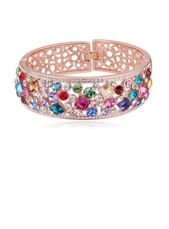 Sonar Naisten Upea Metalliseos/Rose kullattu jossa Pyöreä Itävallan kristalli Rannerenkaita Hänen/Ystävät