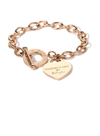 gepersonaliseerde Fijne ketting Bedelarmbanden Gegraveerde armbanden met Hart - Kerstcadeaus Voor Haar