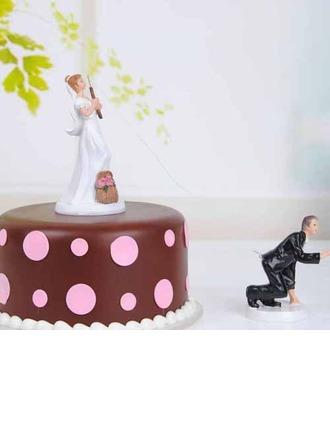 """""""Fishing Love"""" Resin Wedding Cake Topper"""