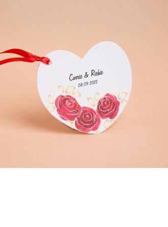 Personlig Blommig Stil Invitation Cards med Färgband (Sats om 10)