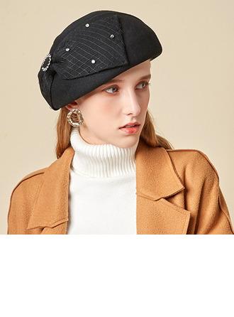 Dames Glamour/Charme/Romantique Coton avec Bowknot Béret Chapeau