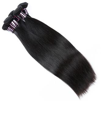 7A Primärschneiden Gerade Midden lengte Lange Menschliches Haar Haarweefsel / Inslag Erweiterungen (Sold in a single piece) 100g