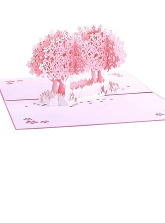 Sanatsal Stil Yan Fold Doğum günü Kartları/Yanıt Kartları/Teşekkür Kartpostalları