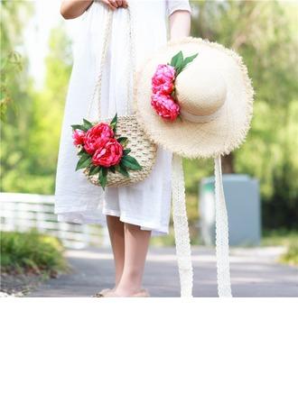 Braut-Geschenke - Ins Auge Fallend Seide stroh Dann Vag Strohhut