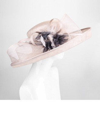 Ladies' Charming/Vintage Cambric With Feather/Flower Bowler/Cloche Hats/Kentucky Derby Hats/Tea Party Hats
