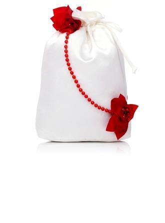 Maravilloso Satén con Flor/Perlas de imitación Funda de Monedas Para Bodas