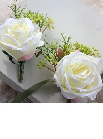 Houkutteleva Nauha Ranne kukkakimppu/Boutonniere -