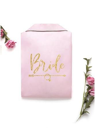 Personalized Charmeuse Bride Bridesmaid Mom Junior Bridesmaid Glitter Print Robes