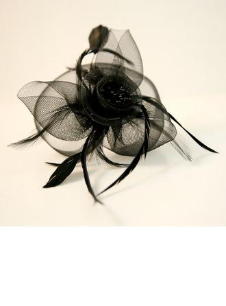 Abbigliamento donna Bella Filato netto/Piuma Monili della fronte/Cappello