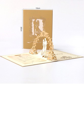 Artistic Style Fold Side Invitation Cards Komplet 10