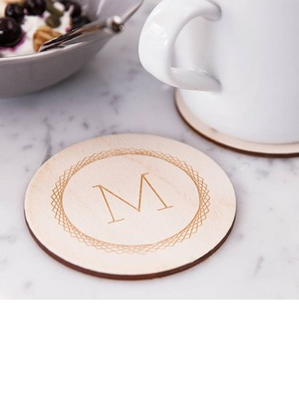 Groomsmen Gaver - Personaliseret Solid Color Træ Coaster