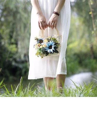Brautjungfern Geschenke - Zarte Porzellan Stroh Handtasche