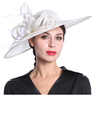 Dames Glamour/Élégante/Jolie Batiste avec Feather Kentucky Derby Des Chapeaux/Chapeaux Tea Party