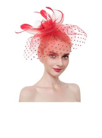 Dames Élégante/Accrocheur/Charme Feather/Fil net avec Feather Chapeaux de type fascinator/Chapeaux Tea Party