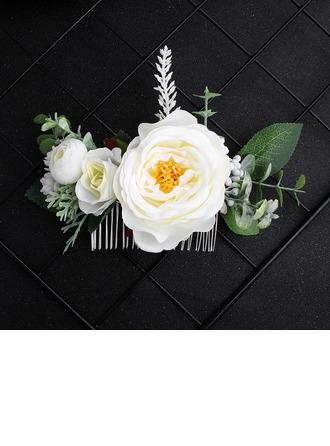 Дамы шелковые цветы Комбс и заколки (Продается в виде единой детали)