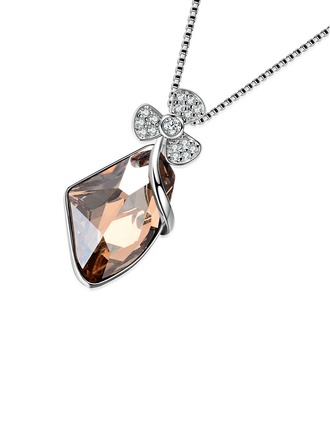 Couples' Chic Crystal With Cubic Necklaces For Bridesmaid/For Friends/For Couple