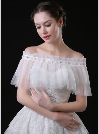 Lace Tulle Wedding Shawl