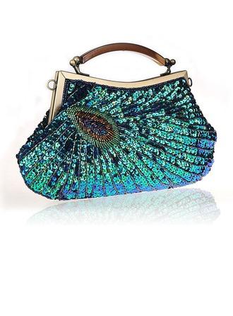 Elegant Glitrende Glitter/Polyester Wristletter/Posevesker