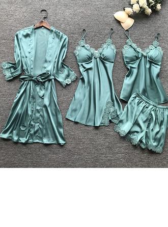 Bruids/Vrouwelijk Ingehouden Geïmiteerd Silk nachtkleding Sets