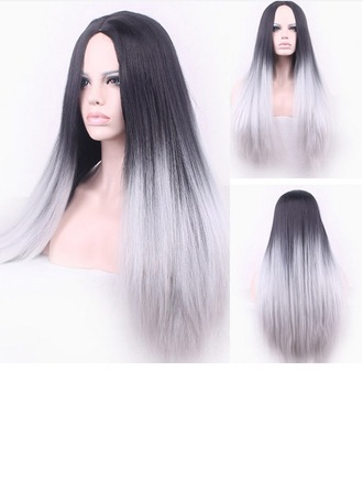 Ultra Long Straight Middle Part Synthetic Wig