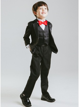 Boys 4 Pieces Formal Ring Bearer Suits /Page Boy Suits With Jacket Vest Pants Bow Tie