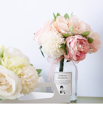 Attaché à la main Fleur en soie/Plastique Décorations (vendu en une seule pièce) -