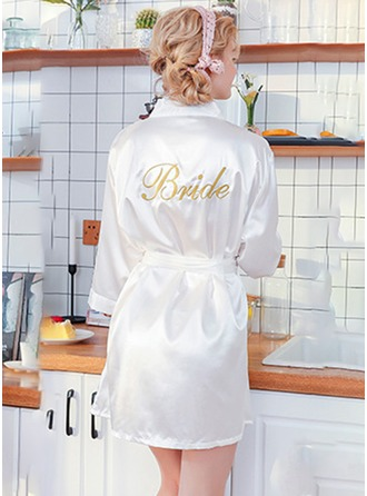 polyester Brud Broderade Robes
