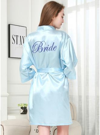 Niet-persoonlijke charmeuse Bruid Glitter print gewaden