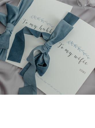 Bride Gaver - Delikat Silke Pap Papir Vow Card (Sæt af 2)