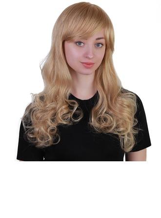 Vågig Människohårblandning Human Hair Parykar 170g
