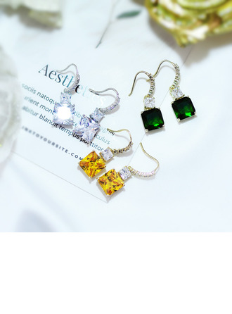 Ladies' Vintage Alloy/Zircon Earrings For Bride/For Bridesmaid/For Mother/For Friends/For Couple