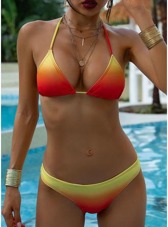 Bikinis Poliestere Colore della giuntura Donna sì Costumi da bagno