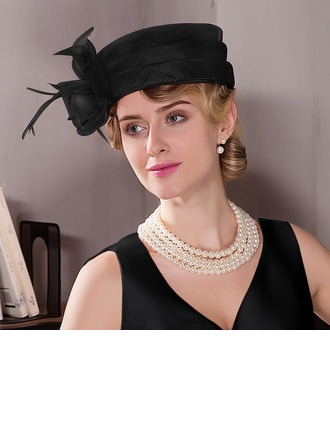 Dames Élégante/Simple/Jolie Batiste avec Feather Béret Chapeau