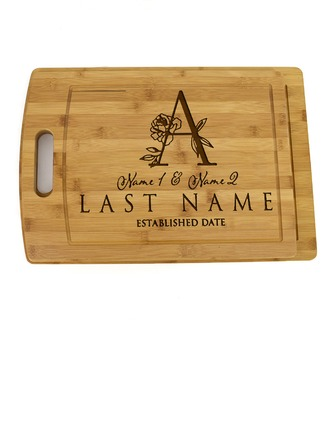 Groom Gifts - Personalized Solid Color Wooden Cutting Board