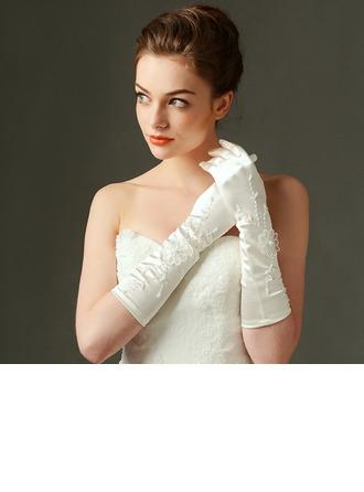 Атлас локоть длина Свадебные перчатки