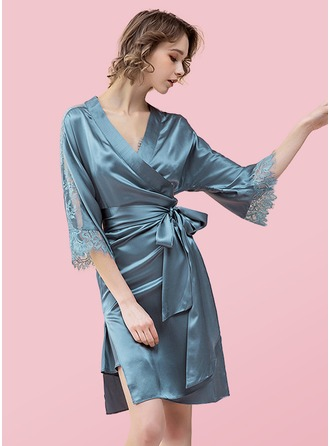 polyester Brud brudtärna Mamma Blank Robes Lace Robes
