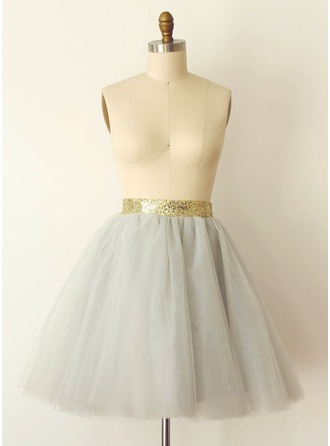 Women Tulle Netting Tea-length Petticoats