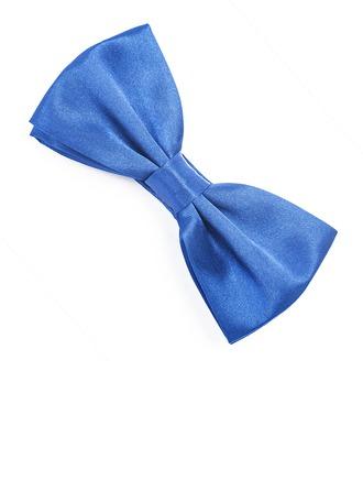 Solid Color Satin Bow Tie