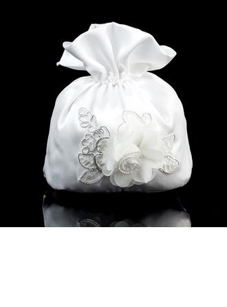 Hübsche Satin/Spitze Braut Geld-Beutel/Blumenmädchen-Taschen