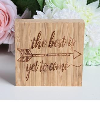 Nizza Neliötä Suunnittelu Bambu Wedding Sign