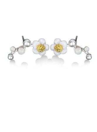 Mode Legierung Harz Damen Art-Ohrringe