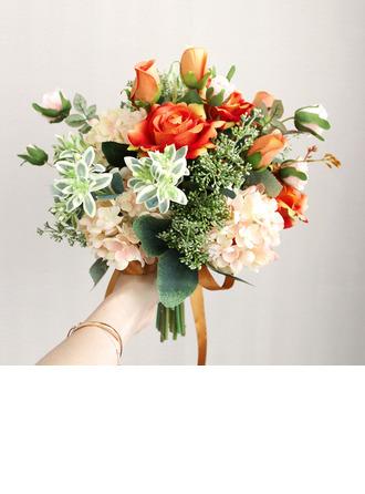 Estilo clásico Forma libre Flores de seda Ramos de novia -