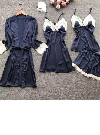 Nuptiale/Féminine Discret Soie imitée Vêtements de nuit
