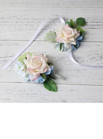 Élégante Forme libre Tissu Sets de fleurs - Corsage du poignet/Boutonnière