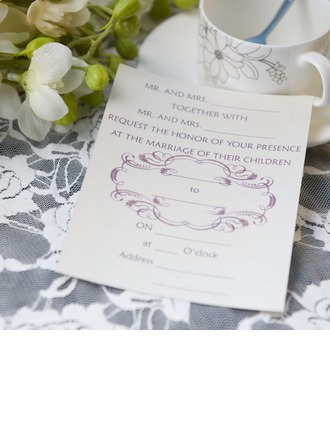 Style Classique Carte plate Invitation Cards (Lot de 50)