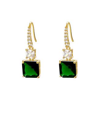 Ladies' Vintage Alloy Rhinestone Earrings For Bride