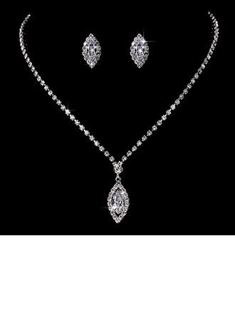 Muhteşem Bakır Ile Yapay elmas/Taşlı Bayanlar Takı Setleri