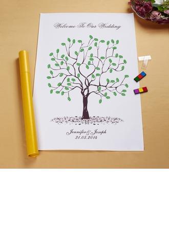 """Our Wedding Tree"" Fingerprint Signature Framed Canvas"