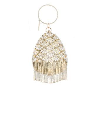 Único Cristal / Diamante/Perlas de imitación Bolso Claqué/Bolso con Asa
